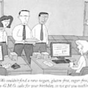 Three Office Workers Art Print