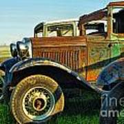 Three Old Fords Art Print