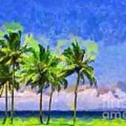 Three Palms Art Print