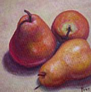 Three Pears #2 Art Print