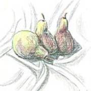 Three Pears Art Print