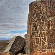 Three Rivers Petroglyphs 4 Art Print