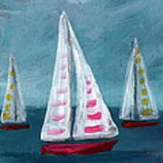 Three Sailboats Art Print