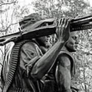 Three Soldiers In Vietnam Print by Cora Wandel
