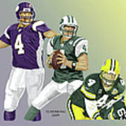 Three Stages Of Bret Favre Art Print