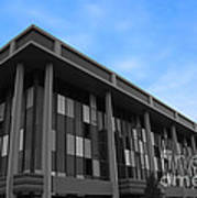 Three Story Selective Color Building Art Print