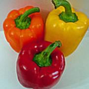 Three Sweet Peppers Art Print
