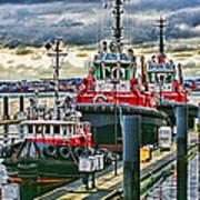 Three Tugs Hdr Art Print