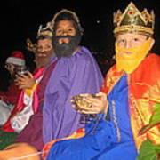 Three Wise Men On Float Christmas Parade Eloy Arizona 2005 Art Print