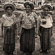 Three Women In Atitlan Art Print