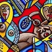 Three Women In The City Art Print