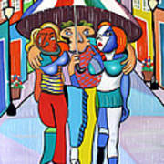 Threes A Crowd By Anthony Falbo                                          Art Print by Anthony Falbo