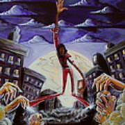 'thriller V3' Art Print by Tu-Kwon Thomas