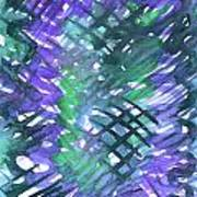 Through The Blue Lattice Art Print
