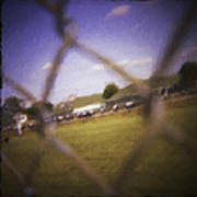 Through The Fence Neo Art Print