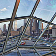 Through The Glass At Philly Art Print