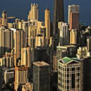 Through The Haze Chicago Shines Art Print