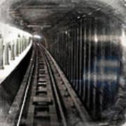 Through The Last Subway Car Window 3 Art Print