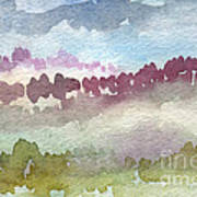 Through The Trees Art Print by Linda Woods