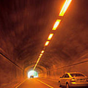 Thru The Tunnel Art Print
