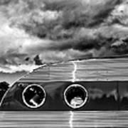 Thunder And Lightning Palm Springs Art Print
