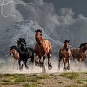 Thunder On The Plains Art Print by Daniel Eskridge