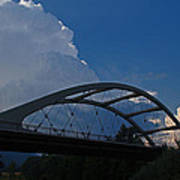 Thunder Over The Rogue River Bridge Art Print