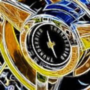 Thunderbird Spokes Fractal Art Print
