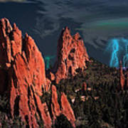 Thunderstorm At Garden Of The Gods Art Print