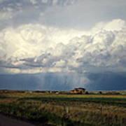 Thunderstorm On The Plains Art Print