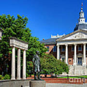 Thurgood Marshall Memorial And Maryland State House Art Print
