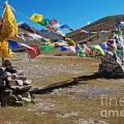 Tibetan Buddhist Prayer Flags Art Print