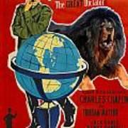 Tibetan Mastiff Art Canvas Print - The Great Dictator Movie Poster Art Print