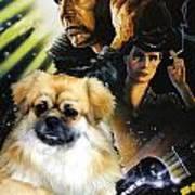 Tibetan Spaniel Art - Blade Runner Movie Poster Art Print