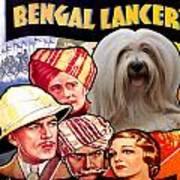 Tibetan Terrier Art - The Lives Of A Bengal Lancer Movie Poster Art Print