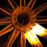 Tick-tock Star Clock Art Print