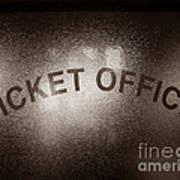 Ticket Office Window Art Print