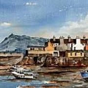 Tide Out Bray Harbour  Wicklow Art Print