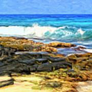 Tide Pools At Magic Sands Art Print