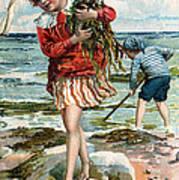 Tide Pools At The Beach Art Print