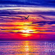 Tie Dyed Sky Art Print