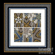 Tied To My Concrete Garden - Kaleidoscope - Hexaptych Art Print