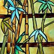 Stained Glass Tiffany Bamboo Panel Art Print