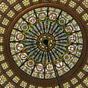 Tiffany Dome Chicago Cultural Museum Art Print