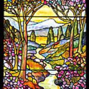 Tiffany Landscape Window Art Print