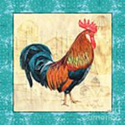 Tiffany Rooster 1 Art Print by Debbie DeWitt