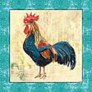 Tiffany Rooster 2 Art Print