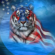 Tiger Flag Art Print