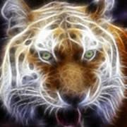 Tiger Greatness Digital Painting Art Print