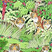 Tiger Jungle Art Print